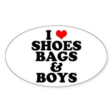 Shoes Bags & Boys Oval Decal