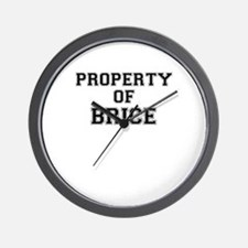 Property of BRICE Wall Clock
