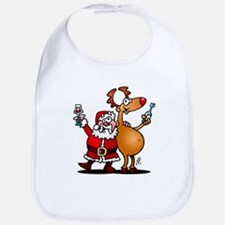 Santa Claus and his Reindeer Bib