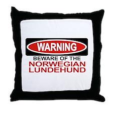 NORWEGIAN LUNDEHUND Throw Pillow