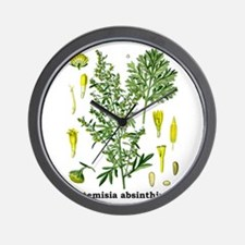 Absinthe Wormwood Wall Clock