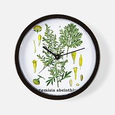 Absinthe Wormwood Wall Clock
