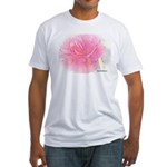 Olde Pink Rose Fitted T-Shirt