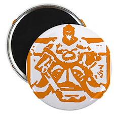 Hockey goalie orange Magnet