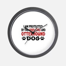 Protected By Otterhound Wall Clock