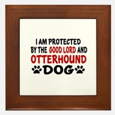Protected By Otterhound Framed Tile