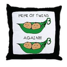 Mimi of Twins Again Throw Pillow