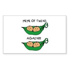 Mimi of Twins Again Rectangle Bumper Stickers