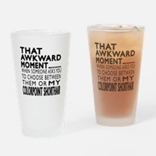 Awkward Colorpoint Shorthair Cat De Drinking Glass