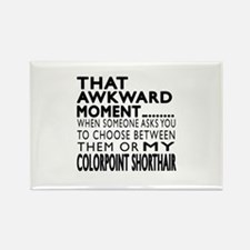 Awkward Colorpoint Shorthair Cat Rectangle Magnet