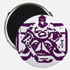 Hockey goalie purple Magnet