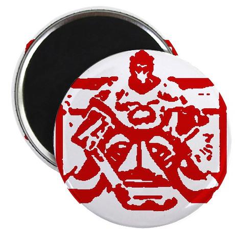 """Hockey goalie red 2.25"""" Magnet (10 pack)"""