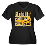 70s Retro Chevy Van Women's Plus Size V-Neck Dark
