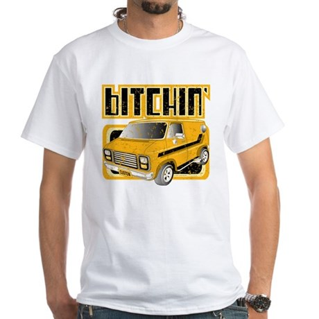 70s Retro Chevy Van White T-Shirt