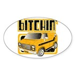 70s Retro Chevy Van Oval Sticker