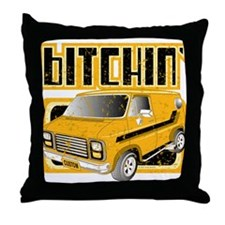 70s Retro Chevy Van Throw Pillow