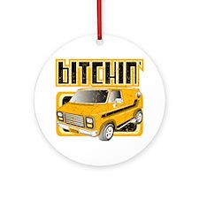 70s Retro Chevy Van Ornament (Round)