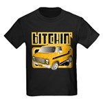 70s Retro Chevy Van Kids Dark T-Shirt