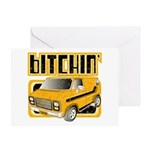 70s Retro Chevy Van Greeting Card