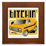 70s Retro Chevy Van Framed Tile