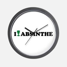 I love Absinthe Wall Clock