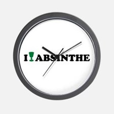 I love Absinthe Wall Clock