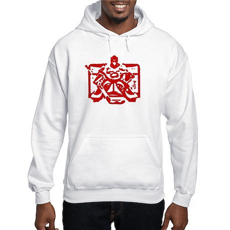 Hockey goalie red Hooded Sweatshirt