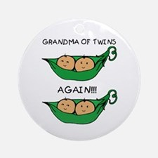 Grandma of Twins Again Ornament (Round)