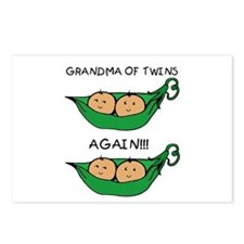 Grandma of Twins Again Postcards (Package of 8)