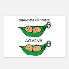 Grandma of Twins Again Postcards (Package of 8)