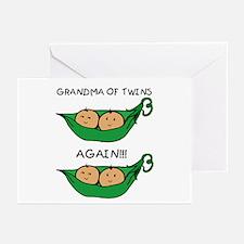 Grandma of Twins Again Greeting Cards (Pk of 10)