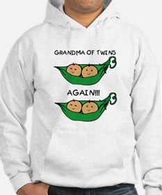 Grandma of Twins Again Hoodie