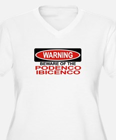PODENCO IBICENCO Womes Plus-Size V-Neck T-Shirt