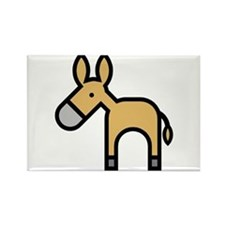 Donkeys and Mules Rectangle Magnet