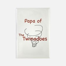 Papa of Twinadoes Rectangle Magnet