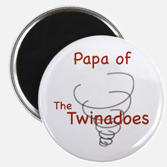 Papa of Twinadoes Magnet