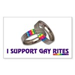 I SUPPORT GAY RITES Rectangle Sticker