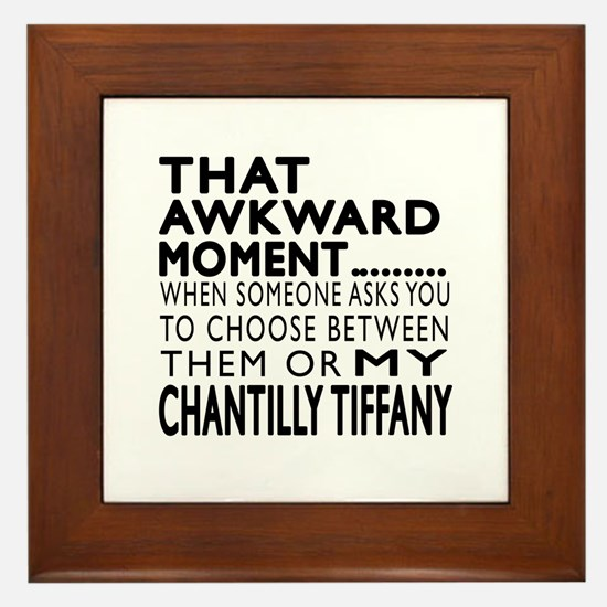 Awkward Chantilly Tiffany Cat Designs Framed Tile