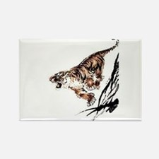 Funny Chinese tiger Rectangle Magnet