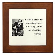 Oscar Wilde 1 Framed Tile