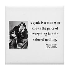 Oscar Wilde 1 Tile Coaster