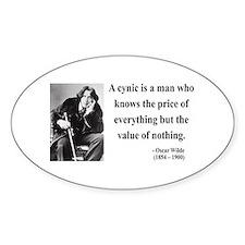 Oscar Wilde 1 Oval Decal