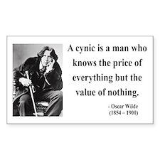 Oscar Wilde 1 Rectangle Decal