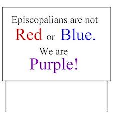 Episco-Purple Yard Sign