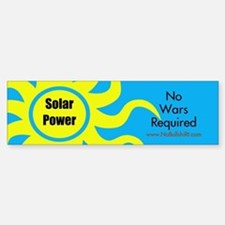 Solar Power No War Required Bumper Bumper Bumper Sticker
