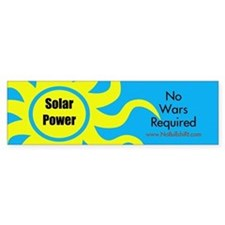 Solar Power No War Required Bumper Bumper Sticker