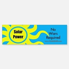 Solar Power No War Required Bumper Car Car Sticker