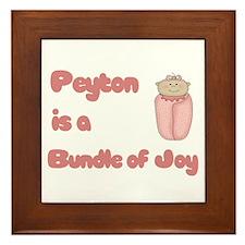 Peyton is a Bundle of Joy Framed Tile