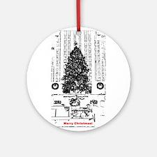 "New York ""Rockefeller"" Christmas Ornament (Round)"