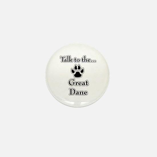 Dane Talk Black Mini Button